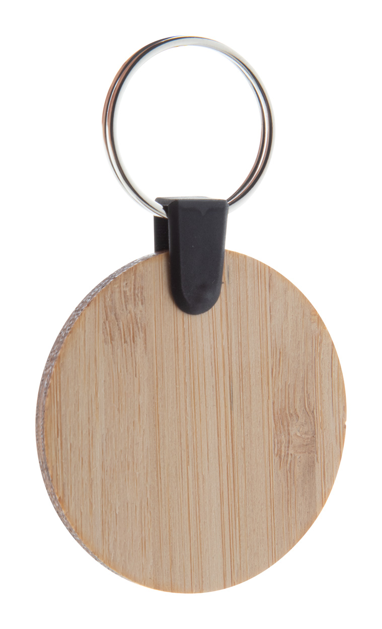 Bambry bamboo keyring, round