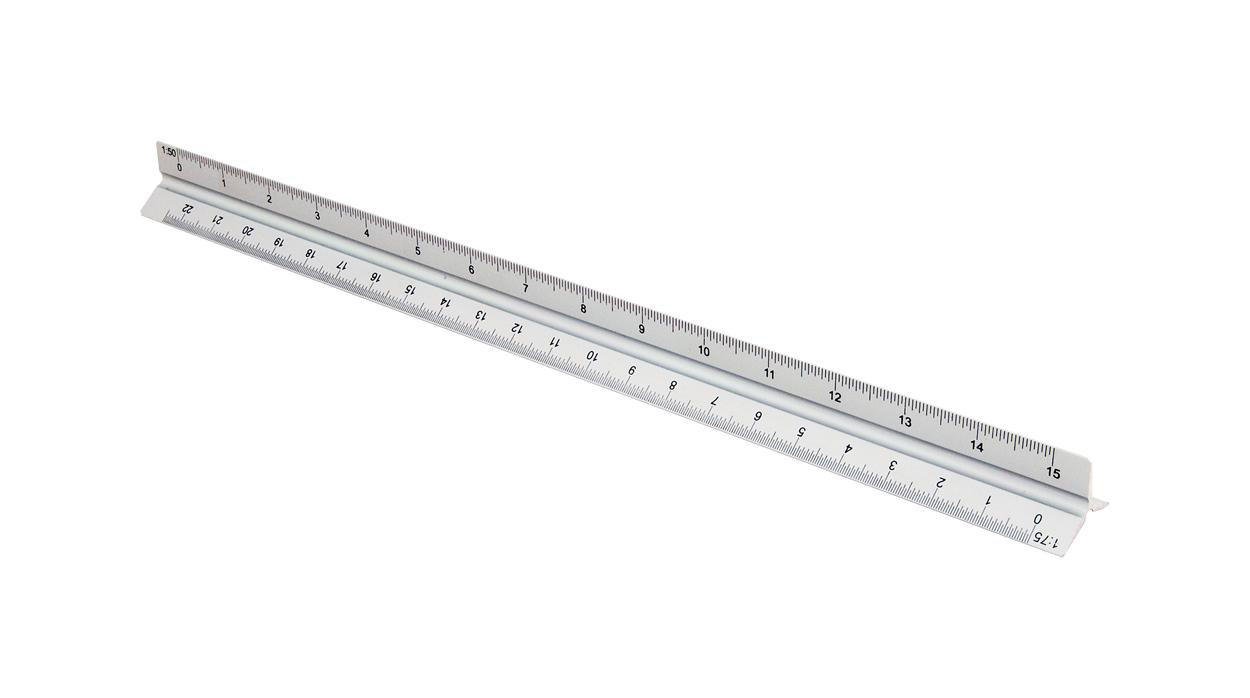 Thirty scalameter ruler