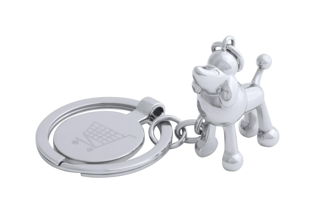 Hoinzo trolley coin keyring, dog