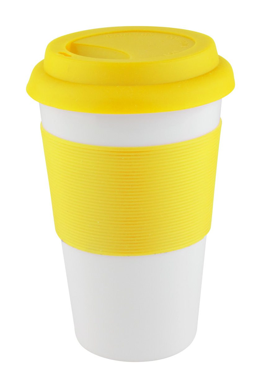 Soft Touch mug with silicone