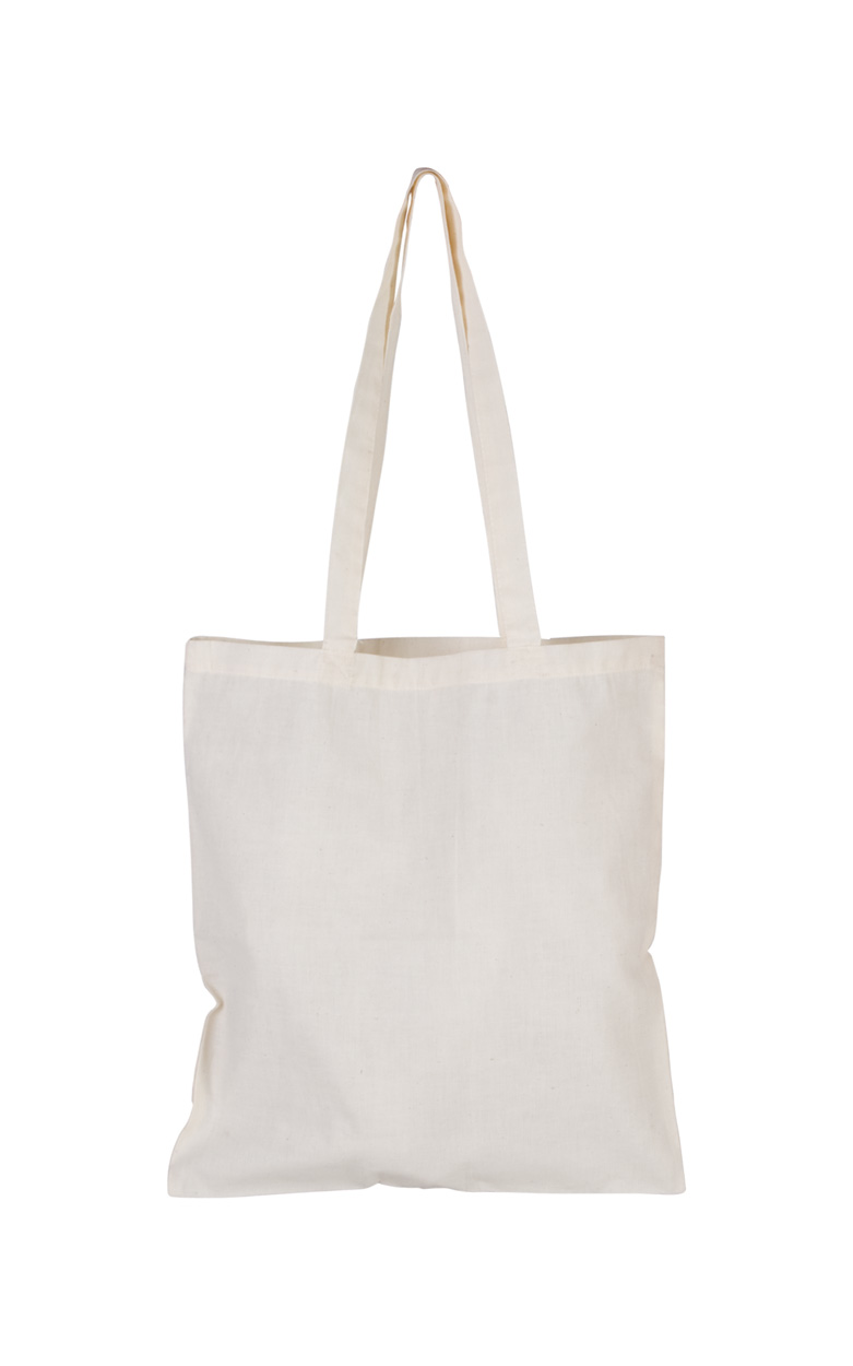 Longish cotton shopping bag