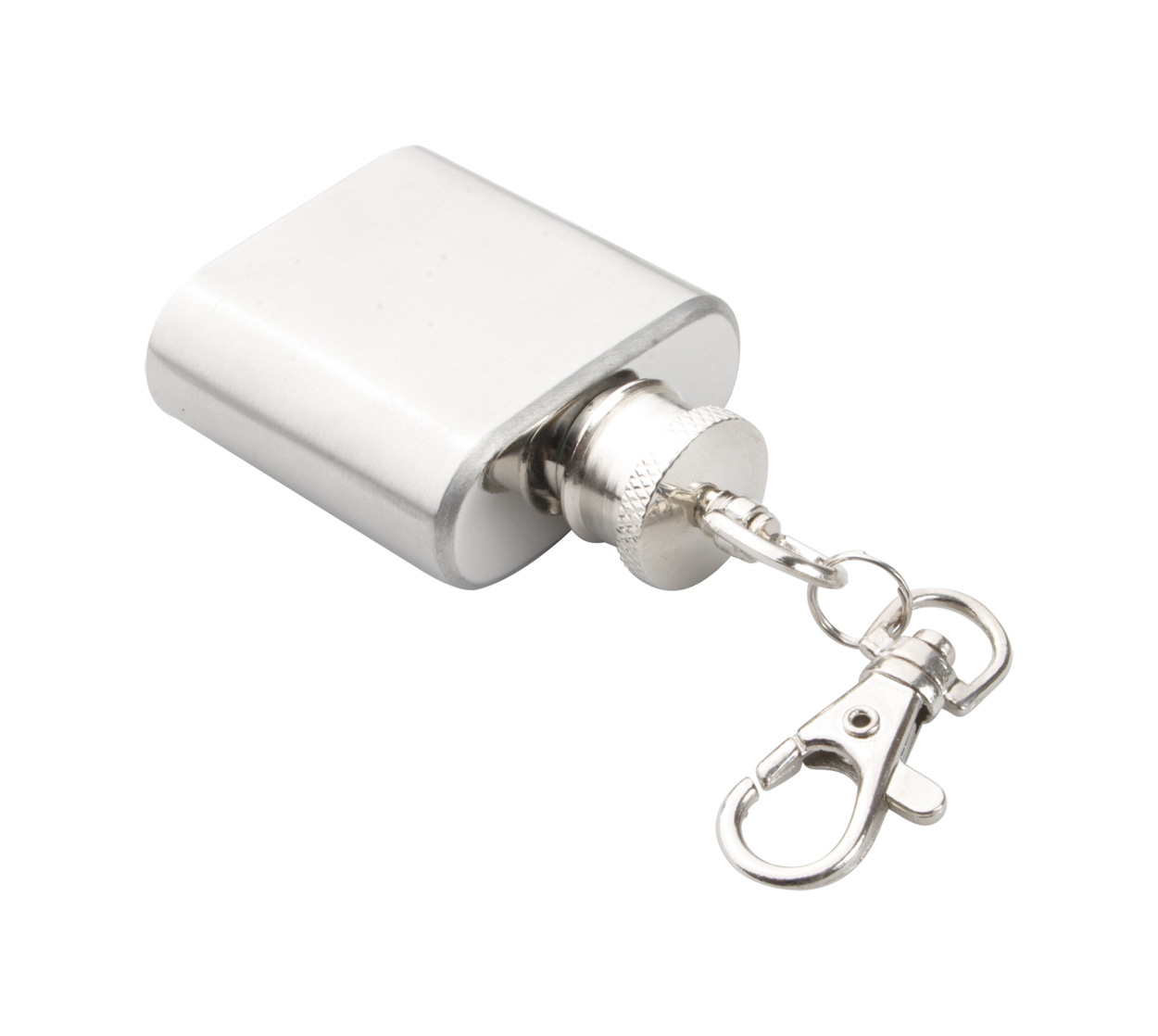 Norge keyring with hip flask