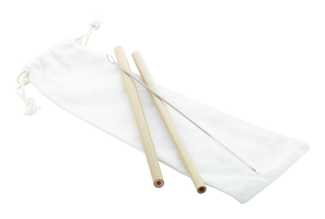 BooSip bamboo straw set