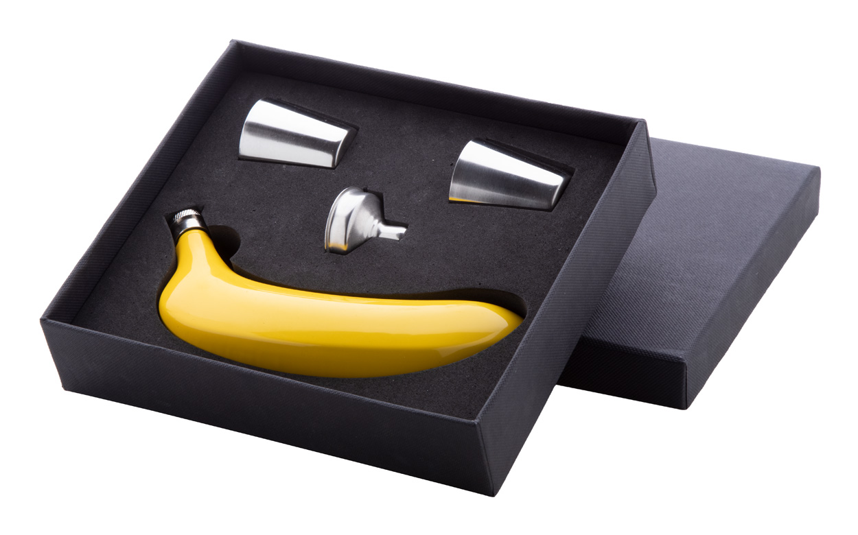Platano hip flask set